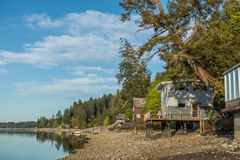 Hood Canal Homes Royalty Free Stock Image