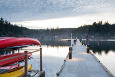 Hood Canal pier Royalty Free Stock Photography