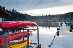 Hood Canal pier Royalty Free Stock Images