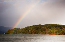 Hood Canal rainbow Royalty Free Stock Photo