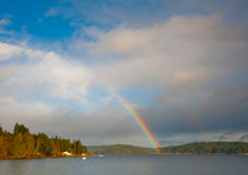 Hood Canal rainbow Royalty Free Stock Photography