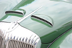 Hood of classic car Royalty Free Stock Photography