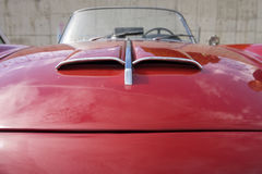 Hood of a classic car Royalty Free Stock Images
