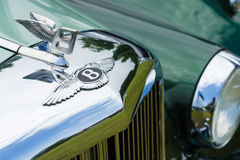 Hood decoration of a full-size luxury car Bentley S1 Royalty Free Stock Images