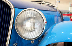 Hood and light of a vintage car Royalty Free Stock Images