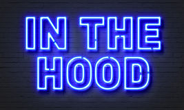 In the hood neon sign Royalty Free Stock Photo