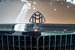 Hood ornament of full-size luxury car Maybach 57S, 2006. Stock Photos