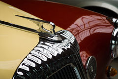 Hood ornament of the luxury car Daimler Majestic Major V8 Stock Photos