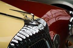 Hood ornament of the luxury car Daimler Majestic Major V8 Stock Photos