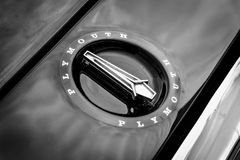 Hood ornament of the mid-size car Plymouth Satellite (Third Generation) Royalty Free Stock Photo