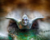 Hood ornament from old car Stock Photos