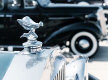 Hood ornament of 1937 Rolls Royce Stock Photos