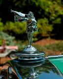 Hood Ornament tot een 1929 Cadillac V8 Stock Foto's