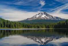 Hood Reflection. View of My Hood from Trillium Lake Royalty Free Stock Photography