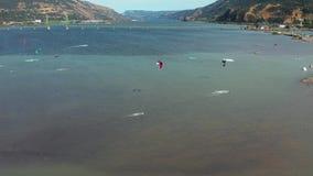 Hood River Kite Boarding almacen de metraje de vídeo