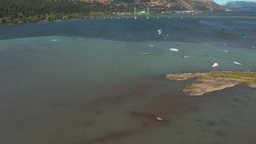 Hood River Kite Boarding almacen de video