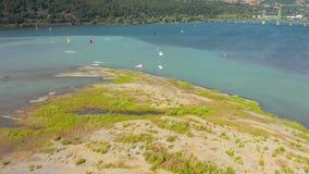Hood River Kite Boarding stock footage