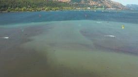 Hood River Kite Boarding stock videobeelden