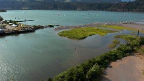 Hood River Kite Boarding stock video