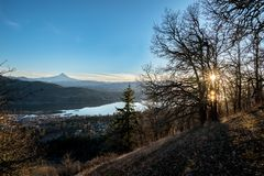 Hood River Sunset fotografie stock