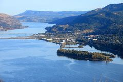 Hood River town, Oregon. Stock Photos