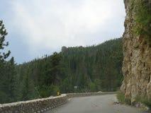 Hood Tunnel, South Dakota. High rocky cliffs and winding roads make Custer County, South Dakota very interesting stock photography