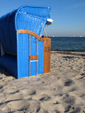 Hooded beach chair Stock Images