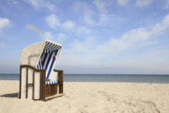 Hooded beach chair Royalty Free Stock Photos