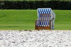 Hooded beach chair Royalty Free Stock Images