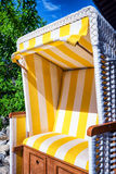 Hooded beach chair Royalty Free Stock Photography