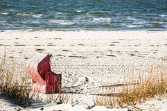 Hooded beach chair Stock Photography