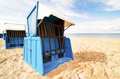 Hooded beach chair Royalty Free Stock Photo