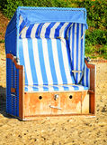 Hooded beach chair Royalty Free Stock Image