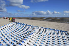 Hooded Beach Chairs - Frisian Islands Stock Photo