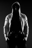 Hooded body builder royalty free stock photos