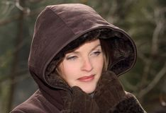 Hooded coat Royalty Free Stock Images