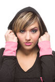 Hooded Fashion Royalty Free Stock Photography