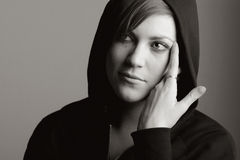 Hooded Female Royalty Free Stock Photos