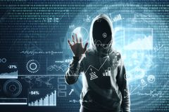 Thief and data concept royalty free stock photography
