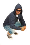 Hooded hip hop man Royalty Free Stock Images