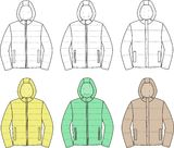 Hooded jackets. Vector illustration. Set of hooded jackets Stock Image
