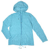 Hooded knitted jacket Royalty Free Stock Images