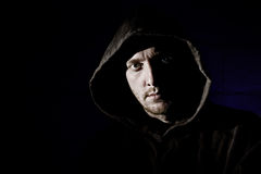 Hooded Male Stock Image
