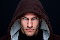 Hooded man Royalty Free Stock Photos