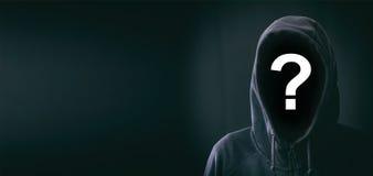 Hooded man on black background. Hooded faceless man on black background Royalty Free Stock Photos