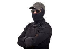 Hooded man with sunglasses Royalty Free Stock Images