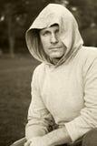 hooded man top Στοκ Εικόνα