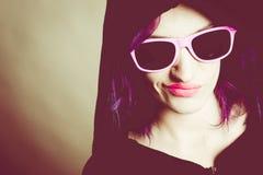 Hooded rebel girl Stock Photography