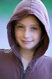 hooded skjorta för flicka Arkivbild