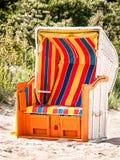 Hooded strandstol Arkivfoto